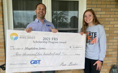 Golden Belt Telephone Association Inc. Announces FRS Scholarship Recipient